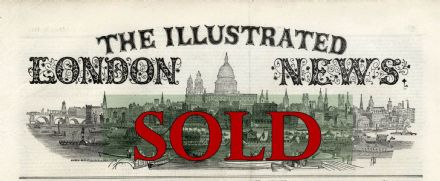 1842 THE FIRST ISSUE OF THE ILLUSTRATED LONDON NEWS 14th May